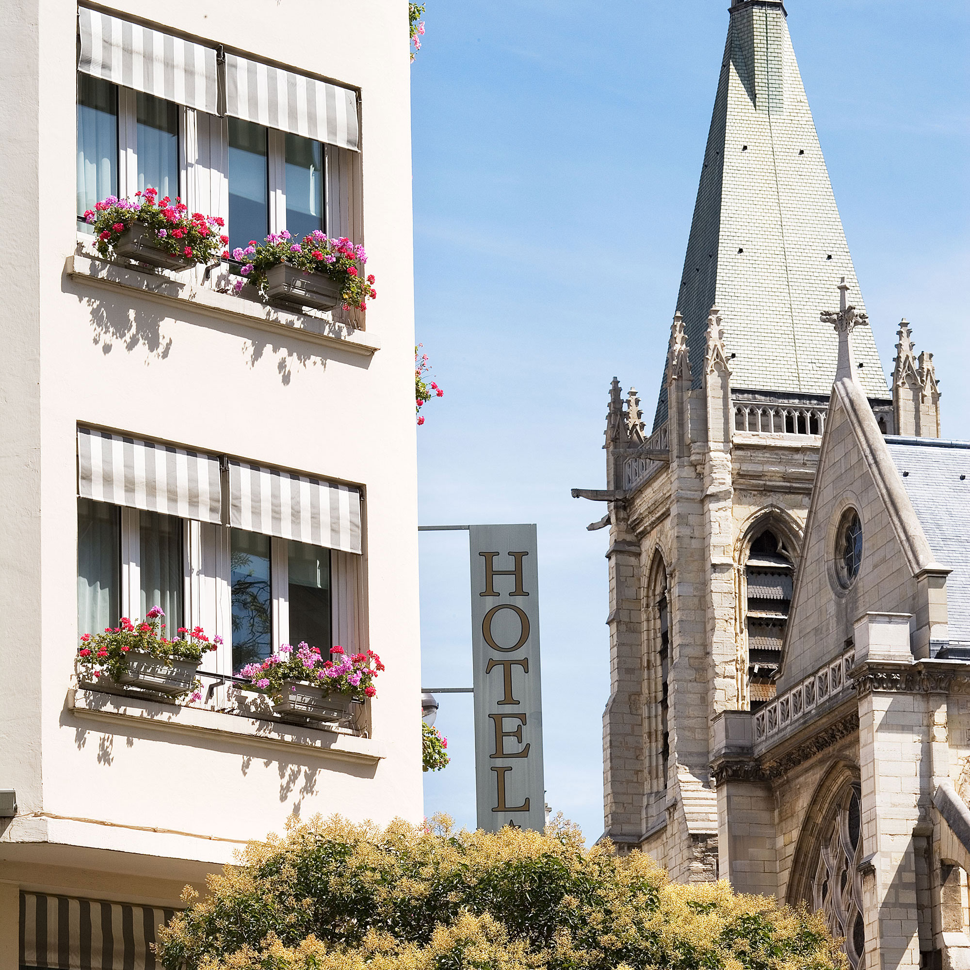 The Hotel Parc Saint Severin in the 5th arrondissement of Paris