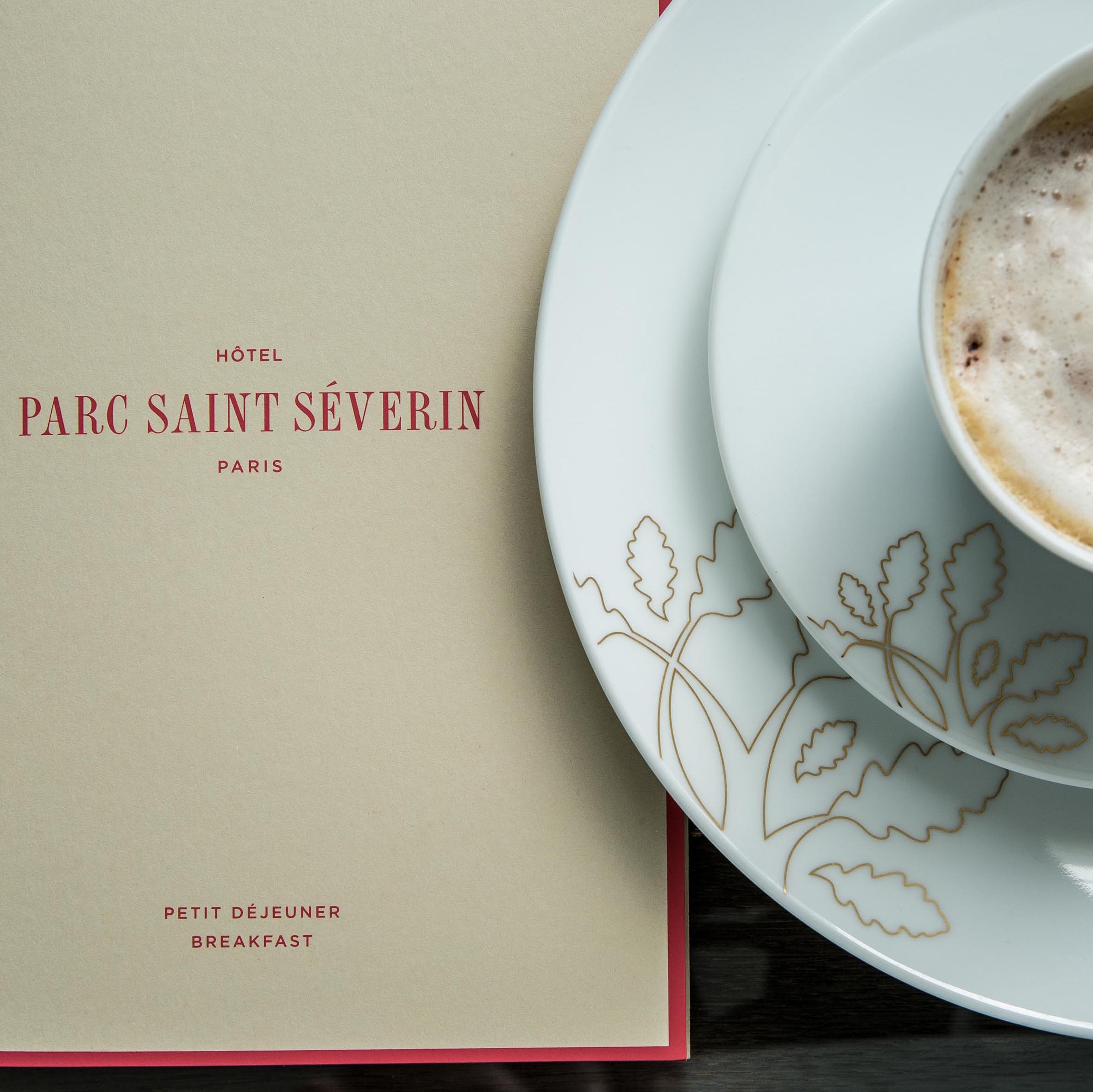 Breakfast at the Hotel Parc Saint Séverin in Paris